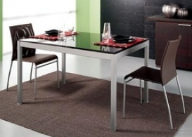 Фотографии Стол кухонный (столовый), стеклянный + 4 стула